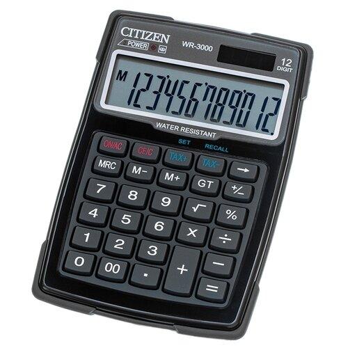 Калькулятор бухгалтерский CITIZEN WR-3000 черный/серый