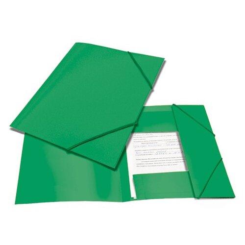 BRAUBERG Папка на резинках Contract A4 зеленая папка brauberg a4 390x315x120mm black 223082