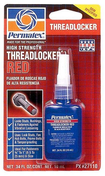 Фиксатор резьбовых соединений сильной фиксации неразъемный PERMATEX Threadlocker Red 27101/27110/27125/27150