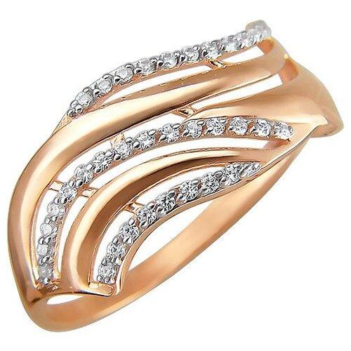 Эстет Кольцо с 35 фианитами из красного золота 01К1110796, размер 16 ЭСТЕТ