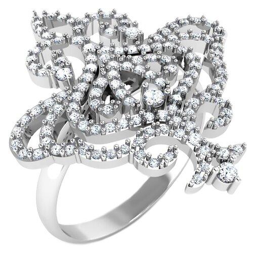 POKROVSKY Серебряное кольцо с фианитами 1100634-00775, размер 18.5