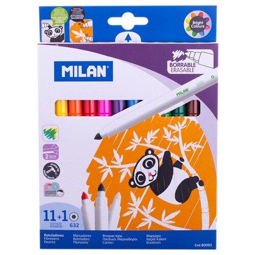Купить MILAN Набор фломастеров 632 (80093), 12 шт., Фломастеры и маркеры
