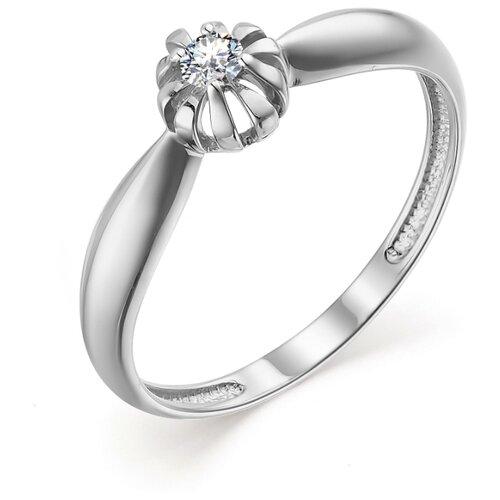 АЛЬКОР Кольцо с 1 бриллиантом из белого золота 13512-200, размер 17 алькор кольцо с 1 бриллиантом из белого золота 12869 200 размер 17 5