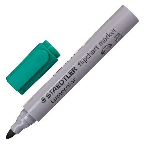 Фото - Staedtler маркер для флипчарта Lumocolor, 2 мм (356), зеленый маркер для доски staedtler 301 5 1 мм зеленый