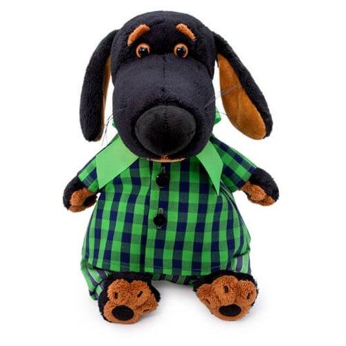 Мягкая игрушка Basik&Co Пёс Ваксон в рубашке и штанах 25 см