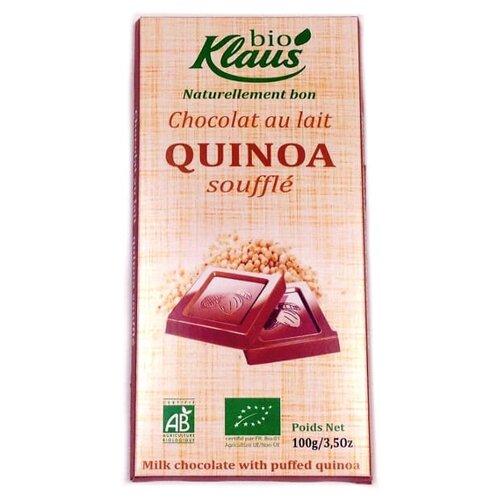 шоколад klaus молочный с кардамоном и кофе 100 г Шоколад Klaus bio молочный с суфле из киноа, 100 г