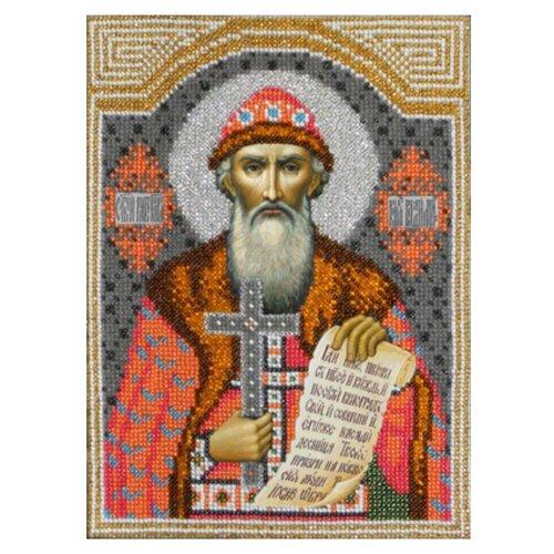 Купить Вышиваем бисером Набор для вышивания бисером Икона Святой Владимир 19 х 25 см (L-47), Наборы для вышивания