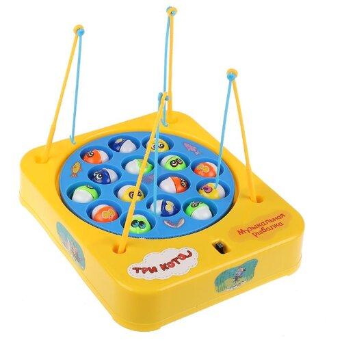 Купить Рыбалка Играем вместе Три кота музыкальная желтый/голубой, Развитие мелкой моторики