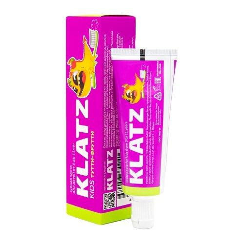 Купить Зубная паста Klatz Kids Тутти-фрутти 5-11 лет, 48 г, 40 мл, Гигиена полости рта