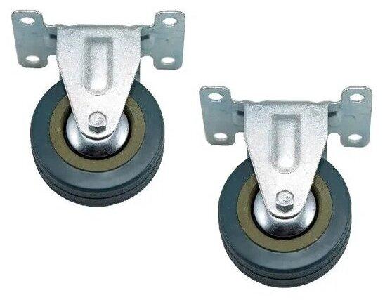 Купить Набор 2 шт колесо неповоротное d75 мм серая резина Колёсник по низкой цене с доставкой из Яндекс.Маркета (бывший Беру)