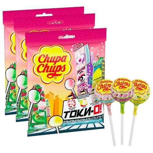 Карамель Chupa Chups Tok-Yo! ассорти, 3 шт.