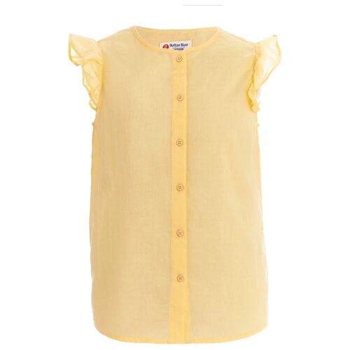 Купить Блузка Button Blue размер 104, желтый, Рубашки и блузы