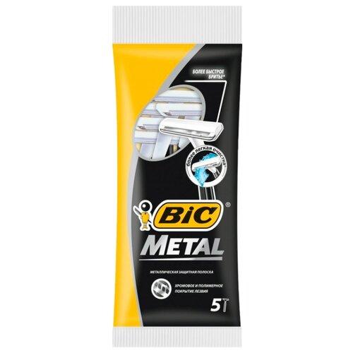 Бритвенный станок Bic Metal, 5 шт. смазка chepark bic 100s 150ml