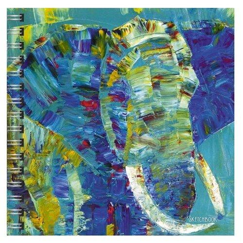 Купить Скетчбук Paper Art Акварельный кот (195х195мм 80л 100г/м2), Альбомы для рисования