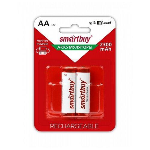 Фото - Аккумулятор Ni-Mh 2300 мА·ч SmartBuy AA HR6, 2 шт. аккумулятор ni mh 1000 ма·ч smartbuy rechargeable aa 2 шт