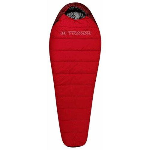 Спальный мешок TRIMM Sporty 195 red/dark red с левой стороны