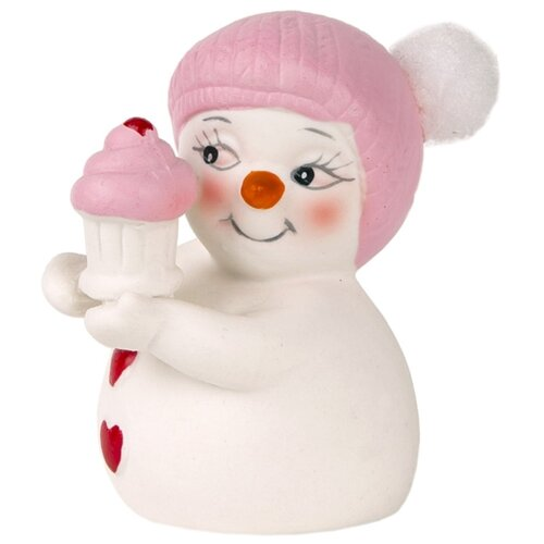 Фото - Фигурка Феникс Present Девочка с кексиком 8 см белый/розовый фигурка феникс present дедушка мороз 26 см белый голубой красный