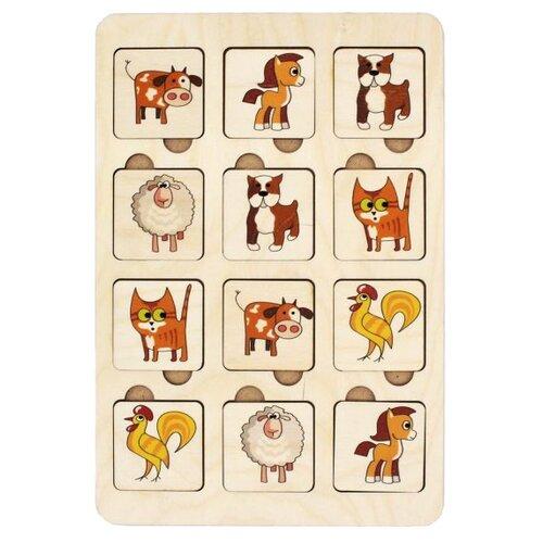 Фото - Настольная игра TAU TOY Найди пару. Зверята деревянные игрушки tau toy головоломка никитина собери квадрат 7 28х28 см