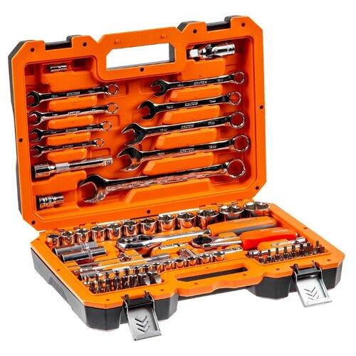 Набор автомобильных инструментов Кратон (82 предм.) TS-18 оранжевый/серебристый