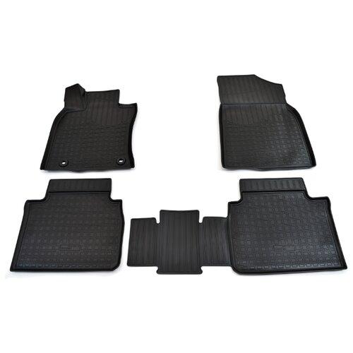 Комплект ковриков NorPlast NPA11-C88-100 4 шт. чёрный