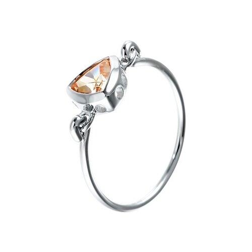JV Кольцо с фианитами из серебра R150079C-KO-001-WG, размер 16 jv кольцо с фианитами из серебра r27208 ko 001 wg размер 16