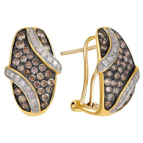 JV Золотые серьги с бриллиантами E25309C-SR-DB-WG