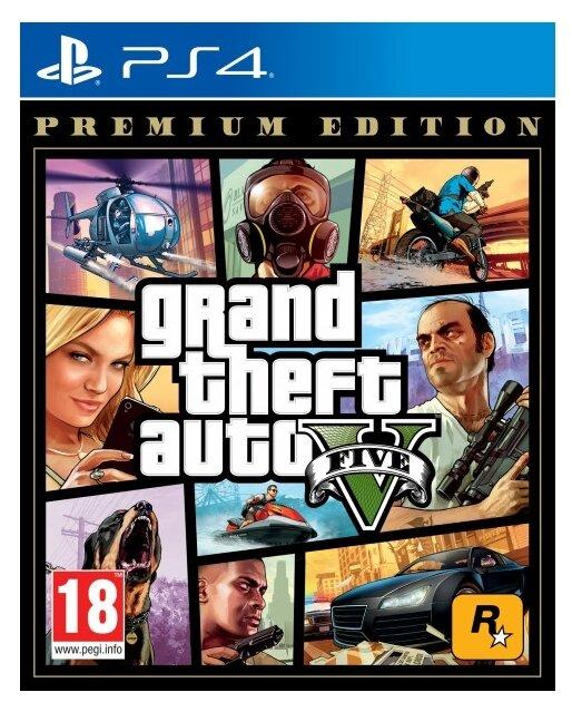 Игра для PlayStation 4 Grand Theft Auto V. Premium Edition, русские субтитры фото 1