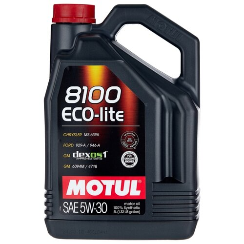Моторное масло Motul 8100 Eco-lite 5W30 5 л моторное масло motul 8100 eco lite 0w 20 1 л