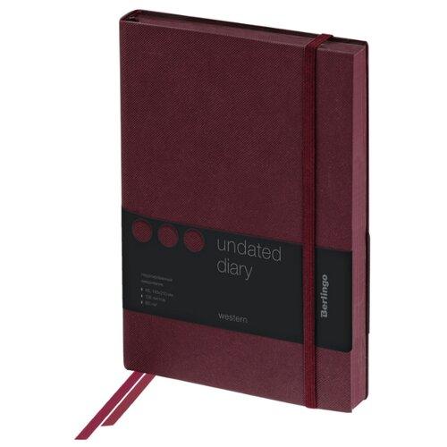 Купить Ежедневник Berlingo Western недатированный, искусственная кожа, А5, 136 листов, коричневый, Ежедневники, записные книжки