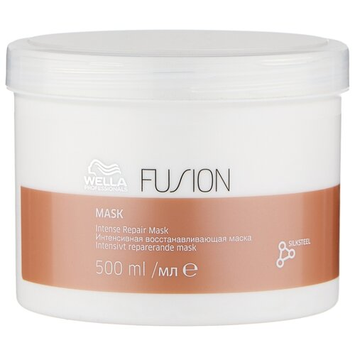 Wella Professionals FUSION Интенсивная восстанавливающая маска для волос, 500 мл wella амино сыворотка fusion интенсивная восстанавливающая 70 мл