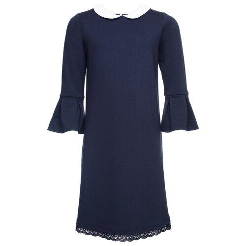 Платье playToday размер 152, темно-синий/белый