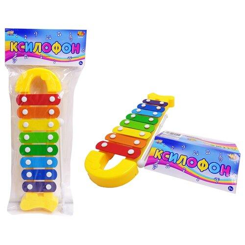 Купить ABtoys ксилофон D-00052 желтый, Детские музыкальные инструменты