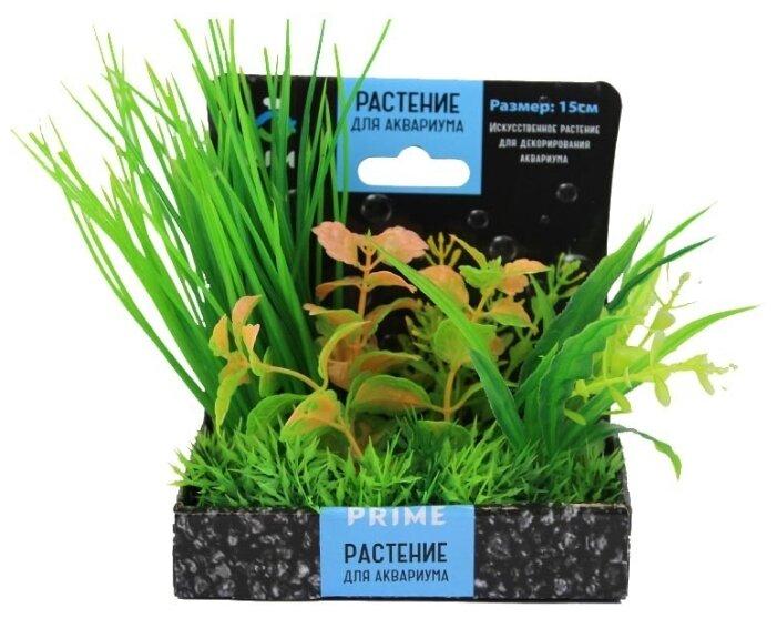 Prime M620 композиция из пластиковых растений для аквариума 15 см