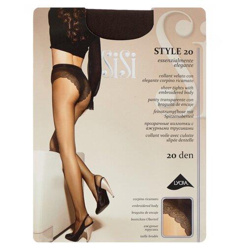 Колготки Sisi Style 20 den, размер 4-L, grafite (серый) колготки sisi miss 15 den размер 4 l grafite серый