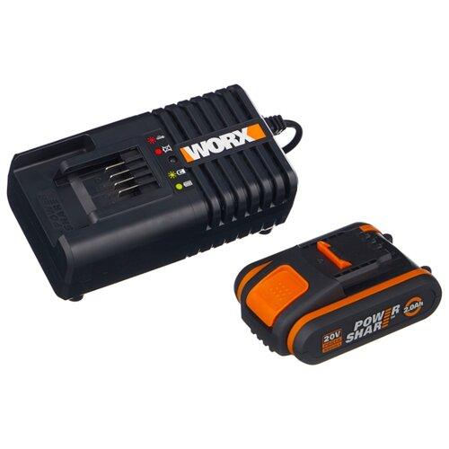 Комплект Worx WA3601 20 В 2 А·ч заряд либ 1020 мк п 10 8 в 2 а·ч