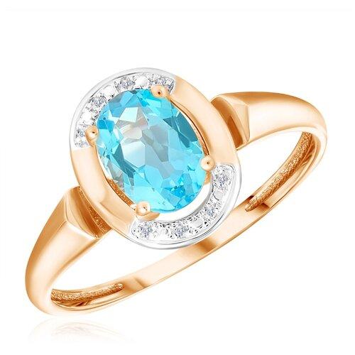 Бронницкий Ювелир Кольцо из красного золота R01-D-69022R002-R17, размер 17 кольцо из золота r01 d 68997r001 r
