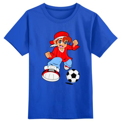Футболка Printio размер 4XS, синий