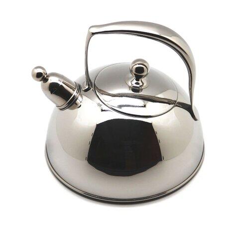 Silampos Чайник со свистком Жасмин 2 л серебристый silampos чайник заварочный art deco 0 9 л 41281318sc53 silampos