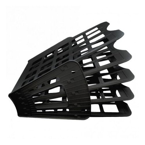 Лоток веерный для бумаги Sponsor ST905-5 (4 отд.) черный лоток для полотенец primanova nora 24 15 5 4 5 см оранжевый