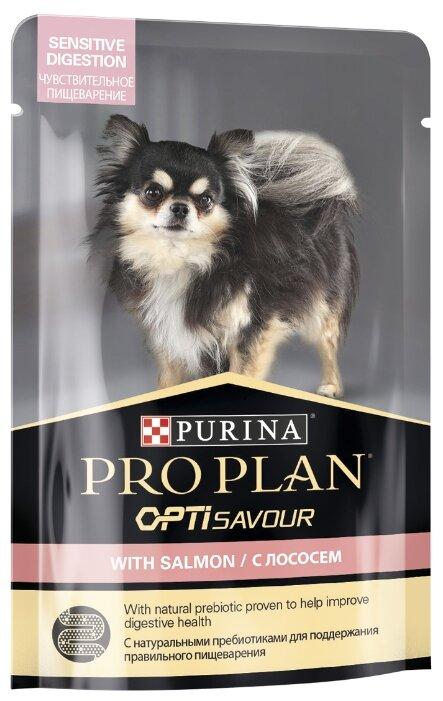 Корм для собак Pro Plan Opti Savour лосось 100г — купить по выгодной цене на Яндекс.Маркете