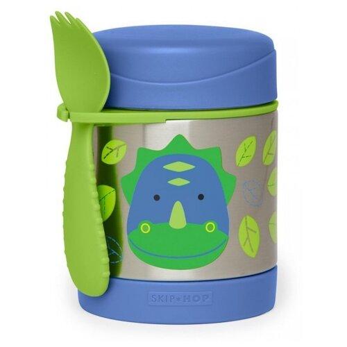 Термос для еды SKIP HOP Dinosaur, 0.325 л синий/зеленый