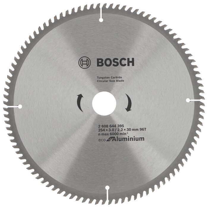 Пильный диск BOSCH Eco Aluminium 2608644395 254х30 мм