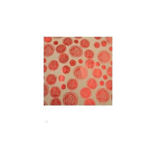 Упаковочная крафт бумага Красные водовороты
