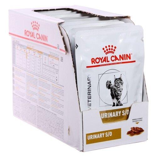 Влажный корм для стерилизованных кошек Royal Canin Urinary S / O Moderate Calorie для лечения МКБ 12 шт. х 85 г (кусочки в соусе)