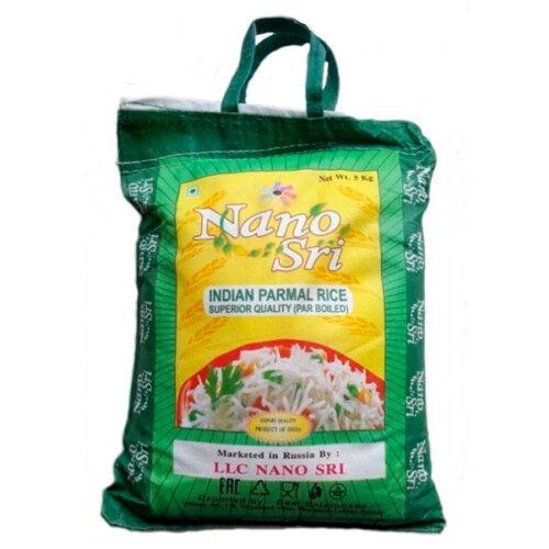 Рис Nano Sri Пармал пропаренный длиннозерный, 5 кг