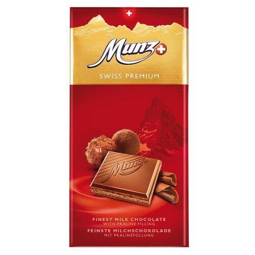 Шоколад Munz молочный пралине, 100 г сандалии thomas munz thomas munz mp002xw0rao9