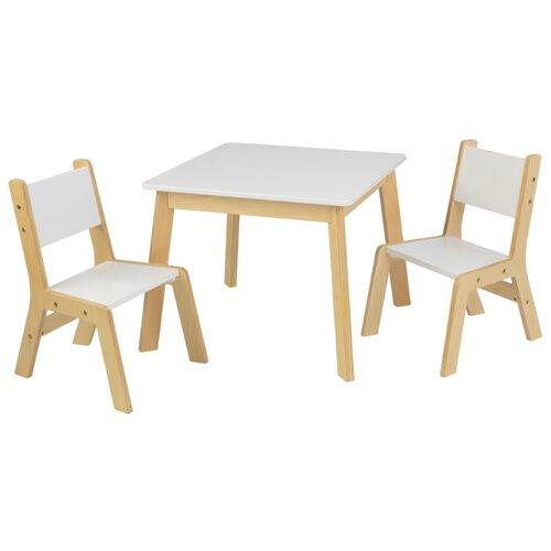 Комплект KidKraft стол + 2 стула Модерн (27025_KE) 65x65 см белый игровой стол kidkraft малыш 17508 ke