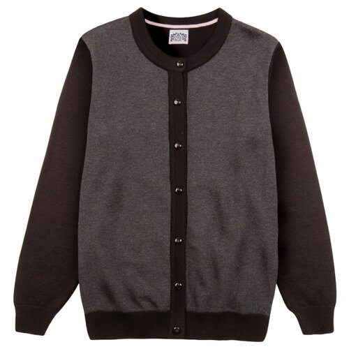 Кардиган Free Age размер 146, серый/черный свитшот для мальчика free age цвет черный zb 09207 b 2 размер 146 10 лет