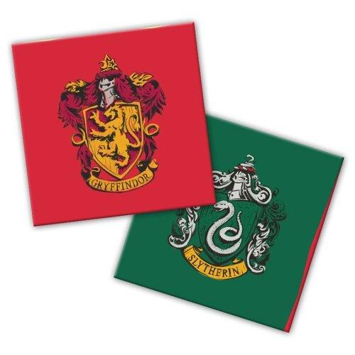 Harry Potter. Салфетки бумажные трехслойные 33*33 см, 12 шт (гербы)