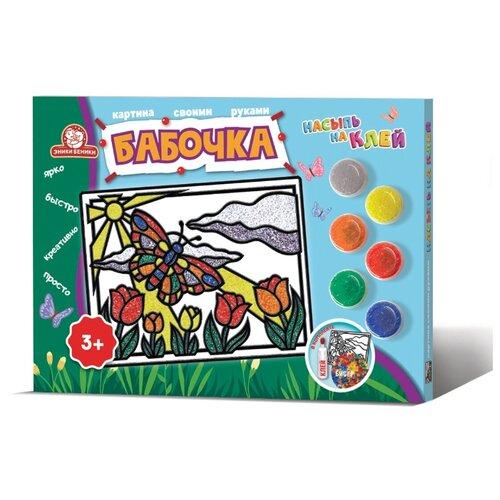 Фото - Набор для творчества Татой Насыпь на клей макси  Бабочка эники беники набор для творчества насыпь на клей попугай 1124k